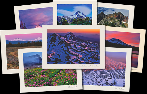 Central Oregon Cascade Mountains Greeting Cards