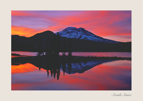 greeting cards for sister. South Sister and Sparks Lake Greeting Card