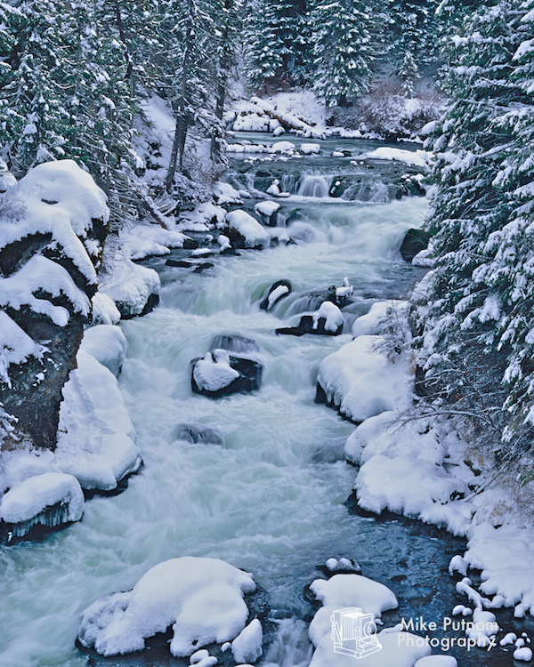 Oregon's Benham Falls in Winter